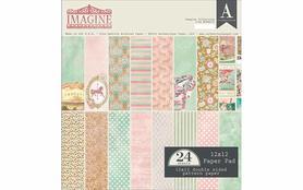 Zestaw 24 papierów 30x30 Authentique Imagine