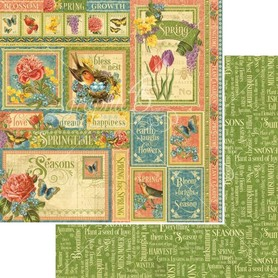 (4501618) Arkusz papieru Graphic 45 - 30x30cm