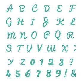 Wykrojnik First Edition Alphabet 031