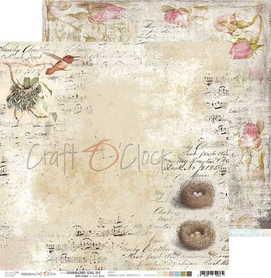 (COC) Arkusz papieru 30x30cm - HUMMINGBIRD SONG 02