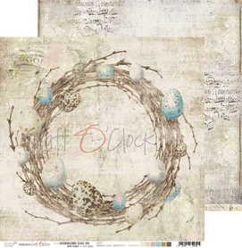 (COC) Arkusz papieru 30x30cm - HUMMINGBIRD SONG 05