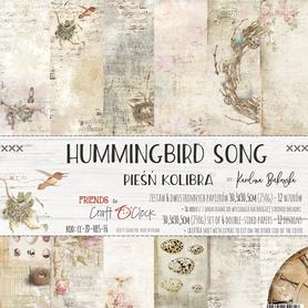 Zestaw papierów 30x30cm - HUMMINGBIRD SONG