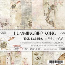 HUMMINGBIRD SONG - zestaw papierów 15,25x15,25cm