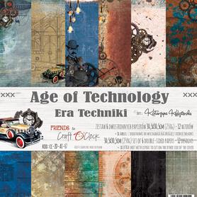 Zestaw papierów 30x30cm - AGE OF TECHNOLOGY