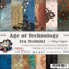 AGE OF TECHNOLOGY - zestaw papierów 15,25x15,25cm