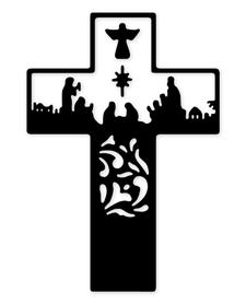 Wykrojnik Szopka Krzyż (3409-O3)