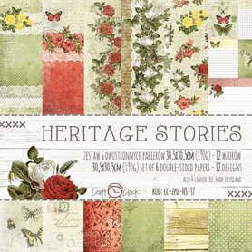 Zestaw papierów 30x30cm - HERITAGE STORIES