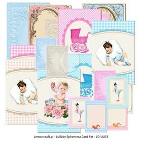 LC Ephemera cards Lullaby