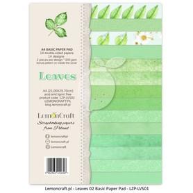 LC Zestaw papierów bazowych A4 - Liście 02