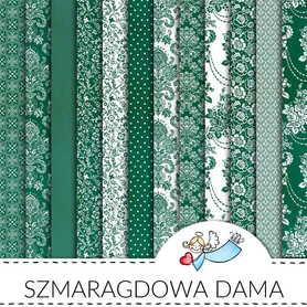 Zestaw papierów Szmaragdowa dama 30x30cm