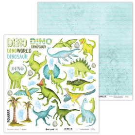 Arkusz papieru LL 30x30cm - Dino Land - 01