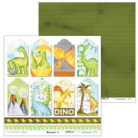 Arkusz papieru LL 30x30cm - Dino Land - 04