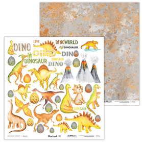 Arkusz papieru LL 30x30cm - Dino Land - 08