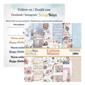Zestaw papierów SB 15x15cm - Cotton Winter