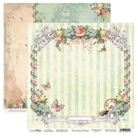 Arkusz papieru SB 30x30cm - Victorian Home 3