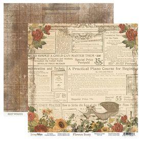 Arkusz papieru SB 30x30cm - Flowers Story 1