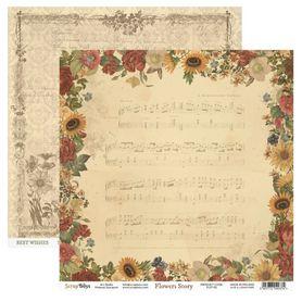 Arkusz papieru SB 30x30cm - Flowers Story 2