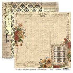 Arkusz papieru SB 30x30cm - Flowers Story 3
