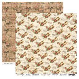 Arkusz papieru SB 30x30cm - Flowers Story 5