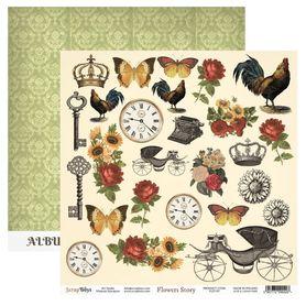 Arkusz papieru SB 30x30cm - Flowers Story 7