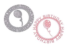 Wykrojnik - Ramka Happy Birthday Balon (008-22-U4)