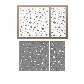 Wykrojnik - Tło z gwiazdkami 2 el. (202/6-X4)