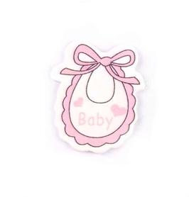 Ozdoba drewniana Śliniaczek Baby różowy