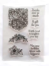 Stemple silikonowe Floral Inscriptions