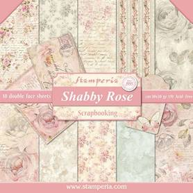 Zestaw papierów 30x30 - Stamperia - Shabby Rose