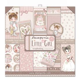 Zestaw papierów 30x30 - Stamperia - Little Girl