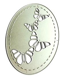 Wykrojnik Ramka owalna z motylami