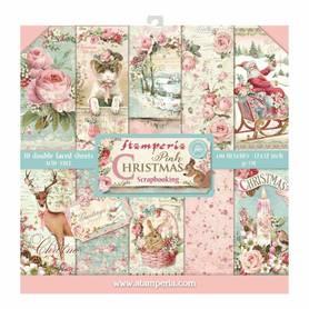 Zestaw papierów 30x30 - Stamperia - Pink Christmas