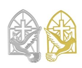Wykrojnik Gołąb w oknie Komunia Chrzest (W225)