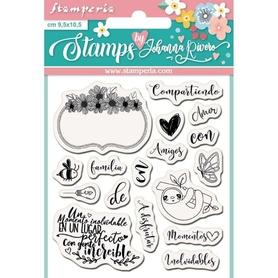 Stempel Stamperia Label Clear Stamps (WTKJR16)