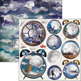 Arkusz 30x30 Ciao Bella Moon and Me alarm CBSS133