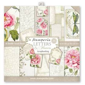 Zestaw 30x30 Stamperia Letters and Flowers