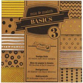 Zestaw papierów kraftowych 15x15 Basics CR0334