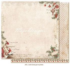 Arkusz 30x30 cm II wish Santa got my letter