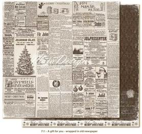Arkusz 30x30 cm A Gift for You - wrapped in old newspaper