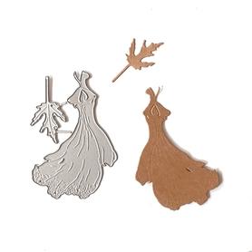 Wykrojnik Sukienka + listek (10-B4)
