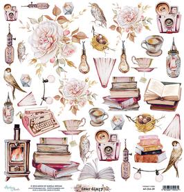 Arkusz Elementów 30,5 x 30,5 cm Dear Diary
