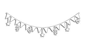 Wykrojnik Baner świąteczny (0435)