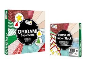 Zestaw 180 papierów 15x15 Origami Xmas CR0717K/GE