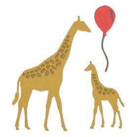 662513 Wykrojnik Sizzix Thinlits - Giraffes - Żyrafy 5 el.