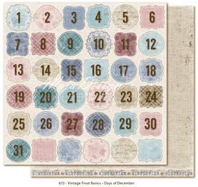Arkusz 30x30 cm Vintage Frost Basics -Days of December
