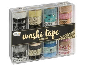 40 tasiemek Washi Tape CR0517/GE