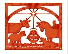 Wykrojnik Szopka Zwierzęta Boże Narodzenie (0385)