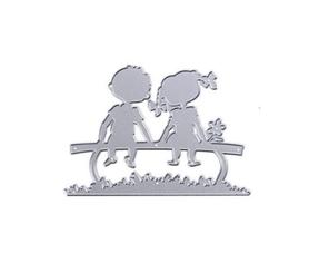 Wykrojnik Dzieci na ławce