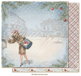 Arkusz 30x30 cm  Christmas Season - Mail the postcard