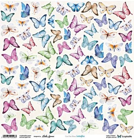 S-M Arkusz 30x30 Butterflies elementy do wycinania (1)